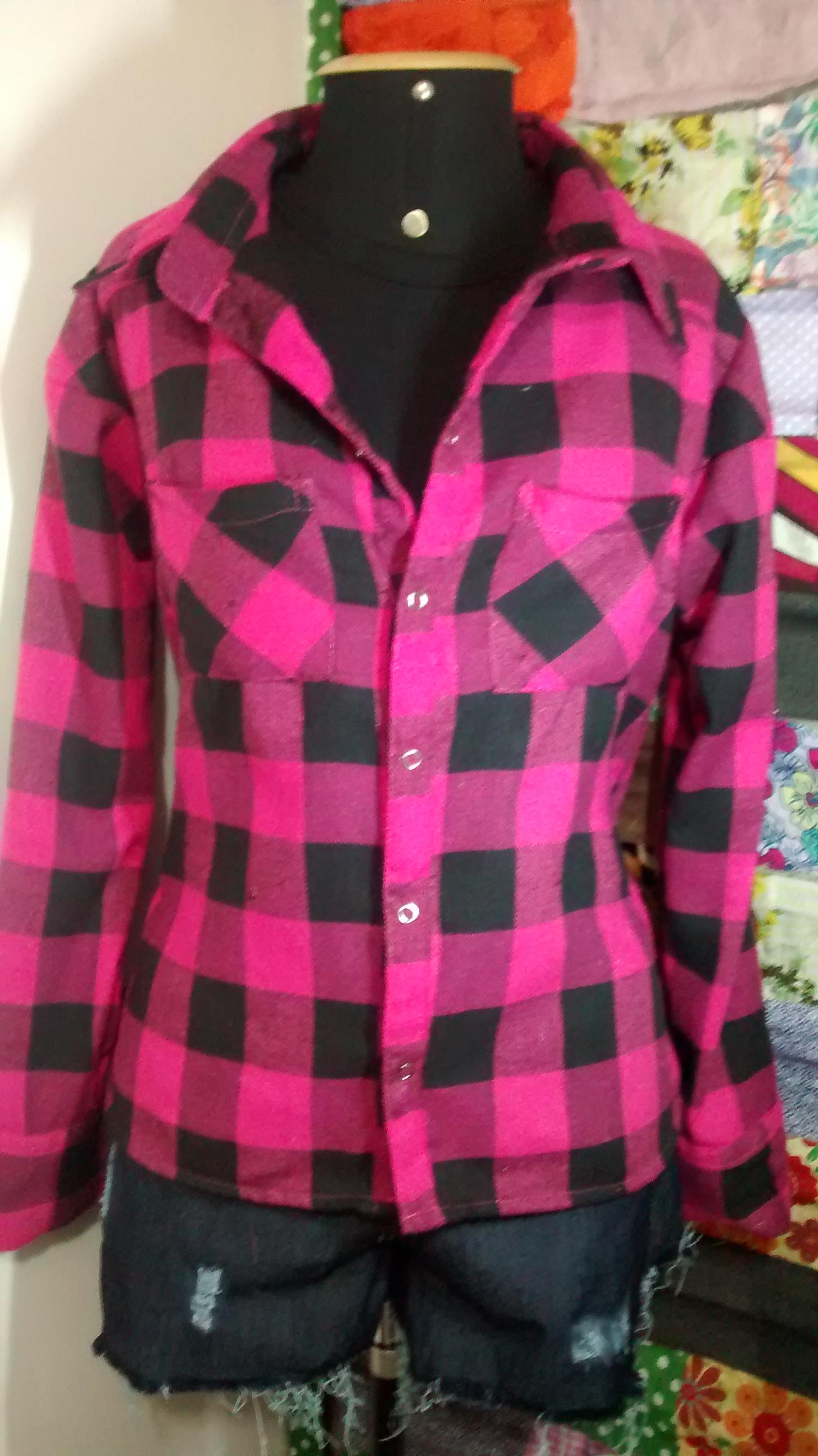 Confeccionando uma camisa xadrez de flanela - Moda e Moldes 16b396a49ba5c