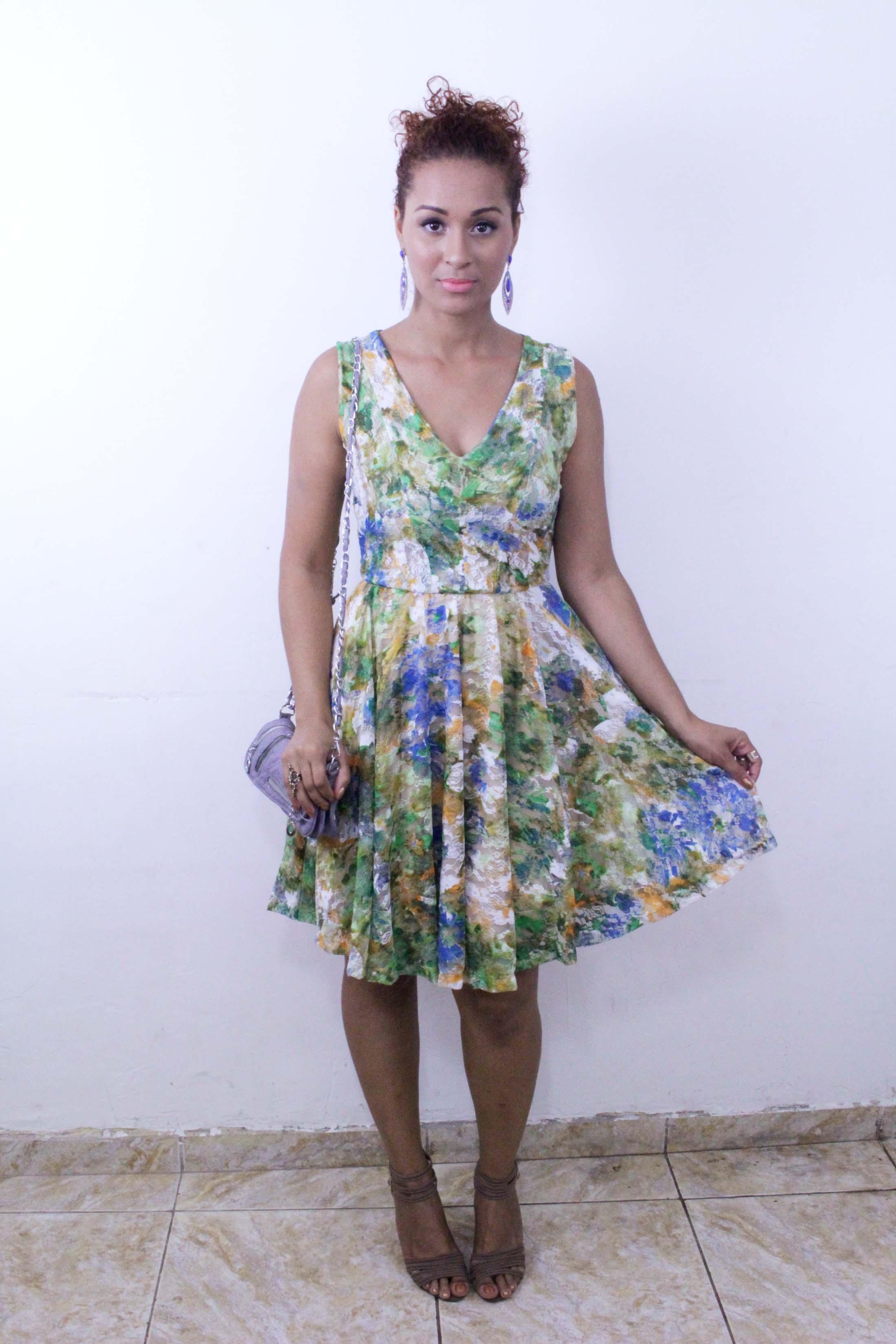 Corte e costura vestido rodado