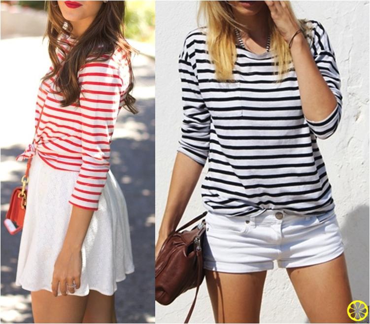 Imagem-3-Blusa-Listrada-Shorts-Branco-Blusa-Listras-Horizontais