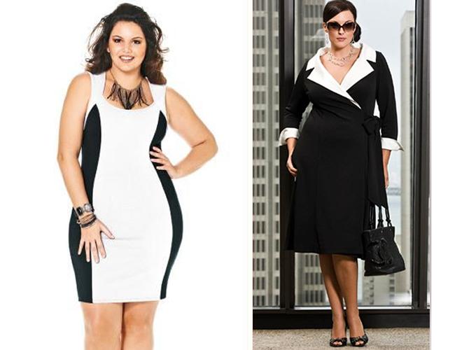 Vestidos-plus-size-preto-e-branco