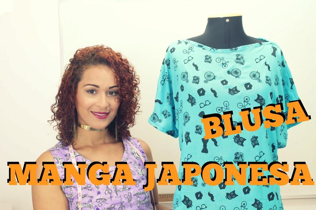 07e6db4a0e BLUSA MANGA JAPONESA MOLDE   JAPANESE SLEEVE BLOUSE PATTERN - Moda e ...