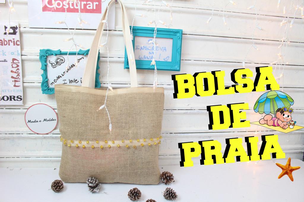 15b3674ff FAÇA VOCÊ MESMA SUA BOLSA DE PRAIA - DIY - Moda e Moldes