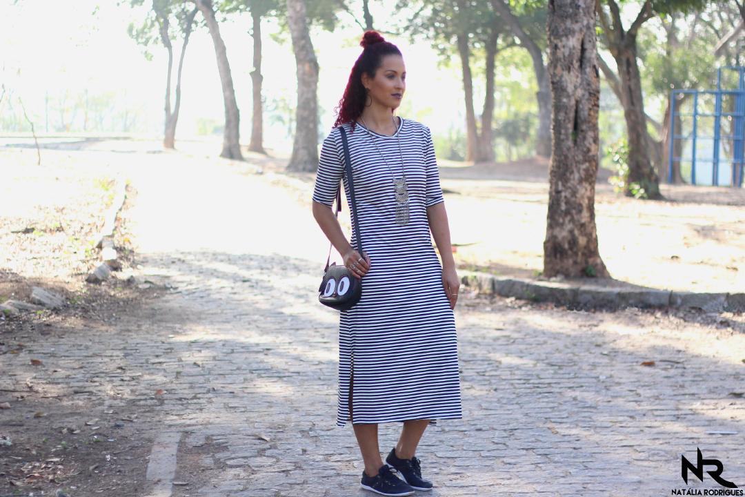 0260dc3d4 A ideia de fazer este modelo surgiu com os pedido de vocês quando fiz look  do dia com outro vestido midi ESTE AQUI, mas não fiz tutorial, logo vocês  me ...