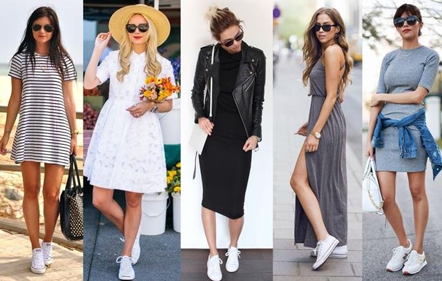 9a27c988788 vestido-com-tênis-branco - Moda e Moldes