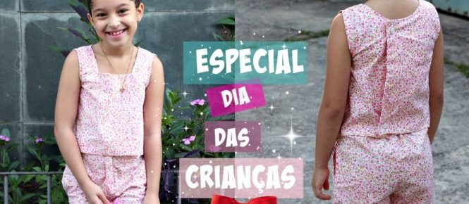 17074fafa Vídeo especial dia das crianças com passo a passo de modelagem e costura de  um conjunto infantil para menina. Modelos tirados da Revista Burda Style  Edição ...