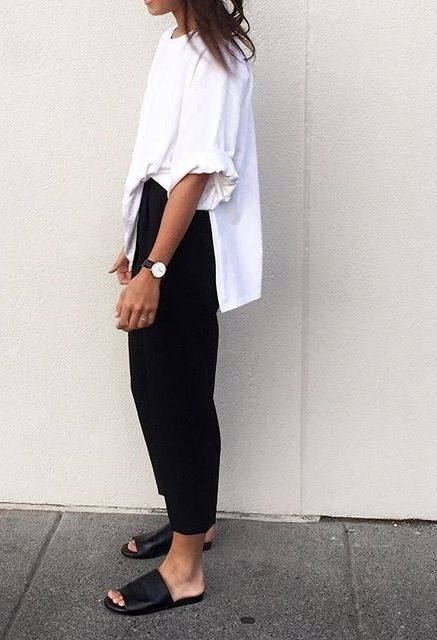 oversized, look preto e branco,look básico