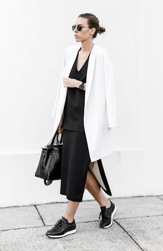 look oversized,look preto e branco,look básico