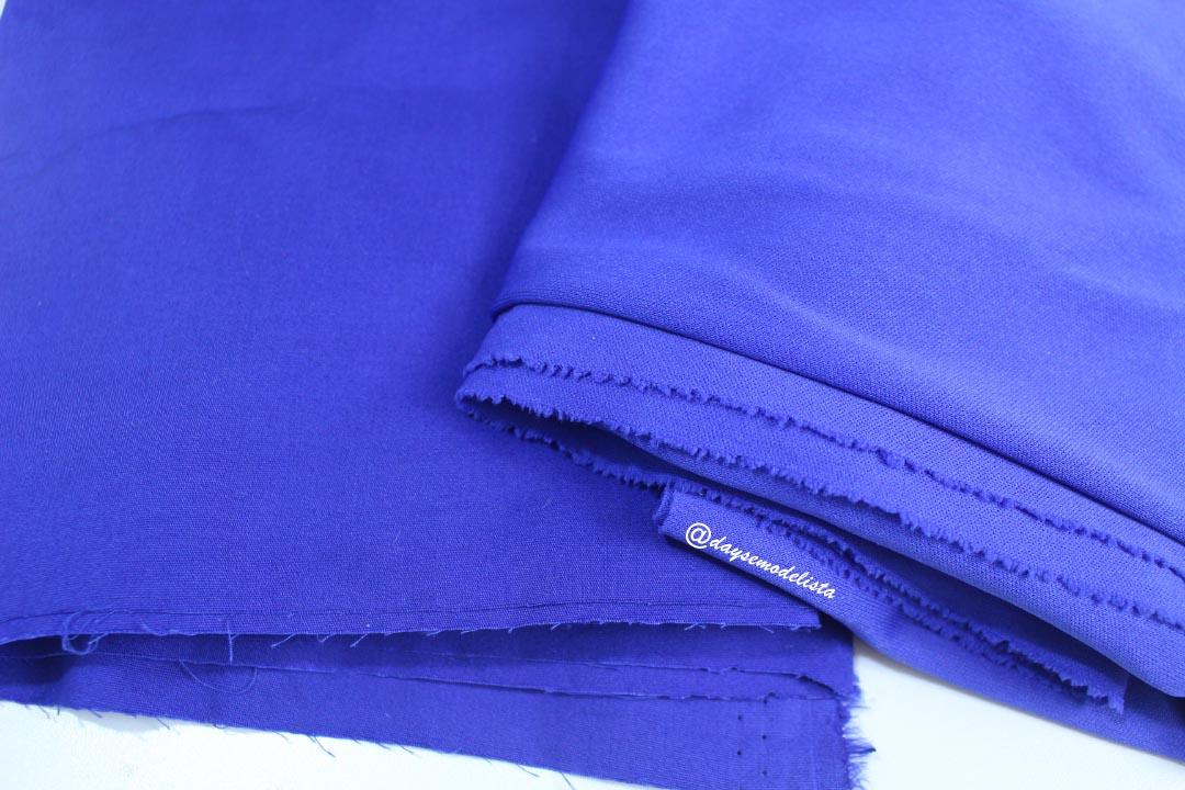 tricoline,tecido azul