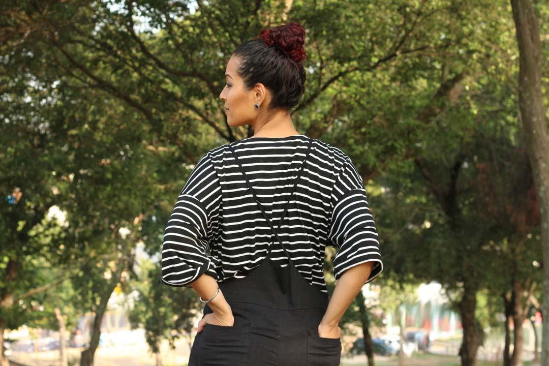 look,look com macacão,look grávida,look gestante,look preto e branco,look inverno,look básico,look confortável,outfit, dayse costa,new chic,roupas da china,look feminino,look da china