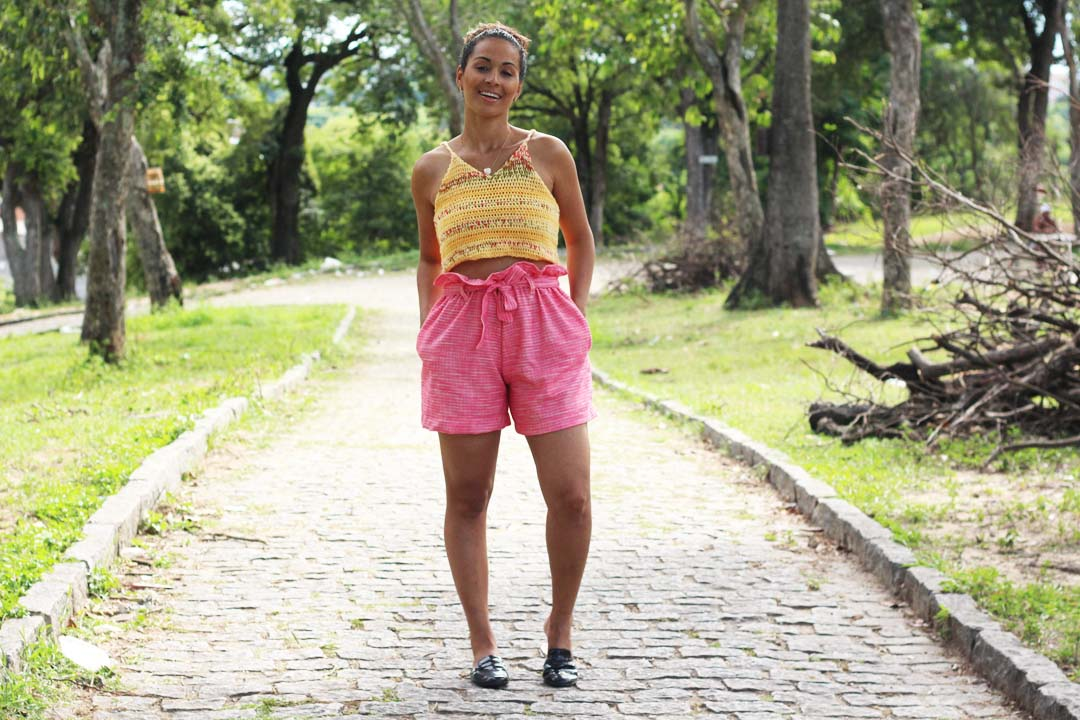 dayse costa,shorts,shor clochard,modelo de short,como costurar short