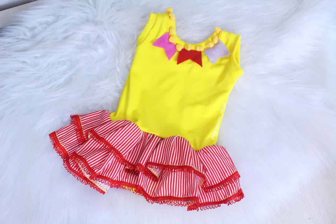 dayse costa,festa junina,são joão,body,roupa de bebê,body infantil,body de bebê,body com saia para bebês,como costurar malha,modelos de roupa para bebê,