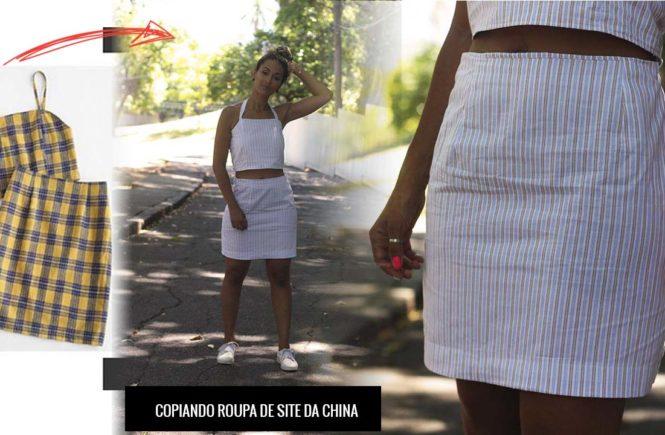 ebf7553b1 Tutorial de molde e costura de como interpretar modelo de roupa por foto de  site da China