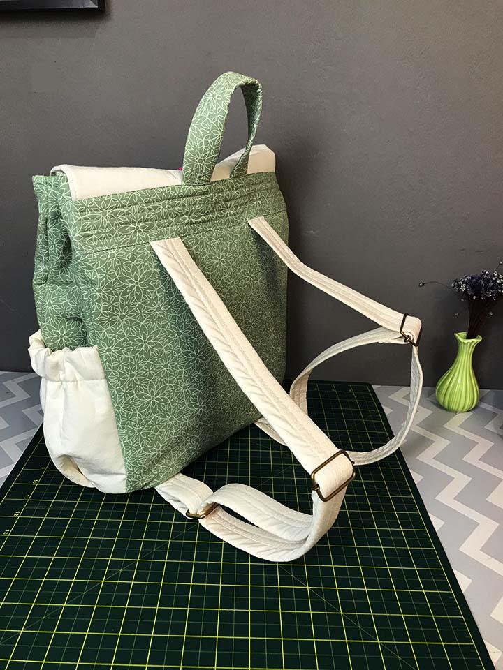 mochila de tecido impermeável